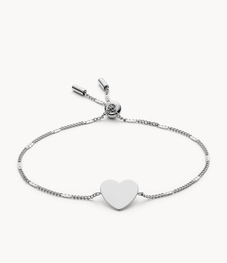 Fossil Engravable Heart Stainless Steel Bracelet jewelry JF03329040