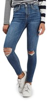 Topshop Women's Moto Jamie Ripped High Rise Ankle Skinny Jeans