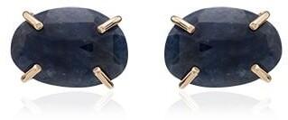 Melissa Joy Manning 14K yellow gold sapphire stud earrings