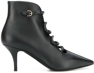 Salvatore Ferragamo Gancini Snake boots
