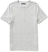 Michael Kors Linen Blend Short-Sleeve Henley Shirt