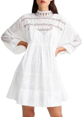 Belle & Bloom Unforgettable Oversized Lace Mini Dress White XS/S
