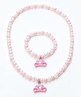 Pink Tiara Necklace & Bracelet