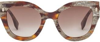 Fendi FOG439V1P cat-eye-frame sunglasses