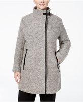 Calvin Klein Plus Size Asymmetrical Funnel-Collar Walker Coat