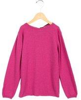 Oscar de la Renta Girls' Cashmere Tie-Accented Sweater