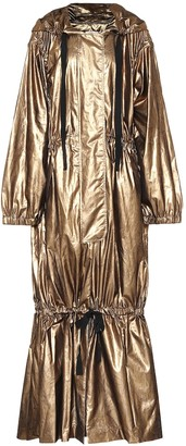 Dries Van Noten Metallic silk-blend coat