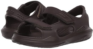 Crocs Swiftwatertm Expedition Sandal (Toddler/Little Kid/Big Kid) (Black/Slate Grey) Kid's Shoes