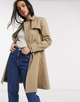 Ted Baker fitted trench coat in tan