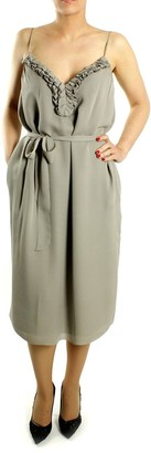 Paul & Joe Silk Toasted Dress - 40 - Grey