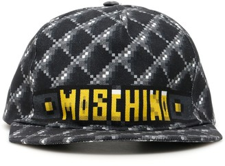 Moschino Pixel Logo Print Baseball Cap