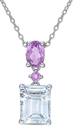Rina Limor Fine Jewelry Silver 3.76 Ct. Tw. Gemstone Pendant Necklace