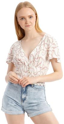 Miss Shop Shirred Waist Soft Top