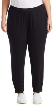 Eileen Fisher Eileen Fisher, Plus Size System Slouchy Slim Jersey Ankle Pants
