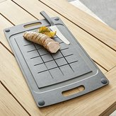 Crate & Barrel Epicurean ® Black BBQ Board with Trench
