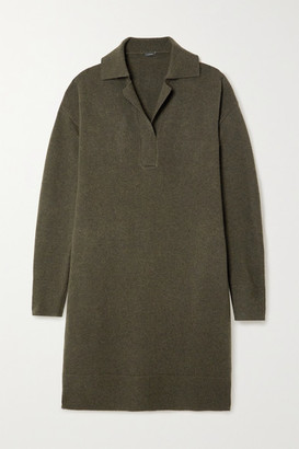 Joseph Oversized Wool Dress - Army green