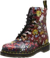 Dr. Martens Womens Floral Pascal 8 Eyelet Leather Boots 8.5 US