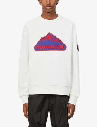 Moncler Logo-embroidered raglan-sleeved cotton-jersey sweatshirt
