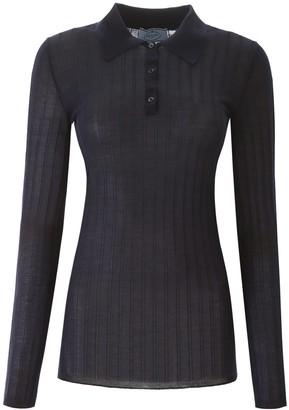 Prada Ribbed Polo Shirt