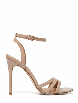 Forever New Rosanna Asymmetric Stiletto Heels - Nude Patent - 37
