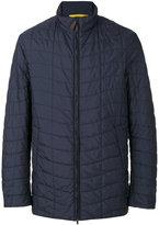 Canali padded casual jacket - men - Leather/Polyester/Polyurethane/Viscose - 50