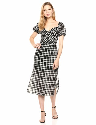 Finders Keepers findersKEEPERS Women's Picnic Wrap Top Retro Midi Sheath Dress