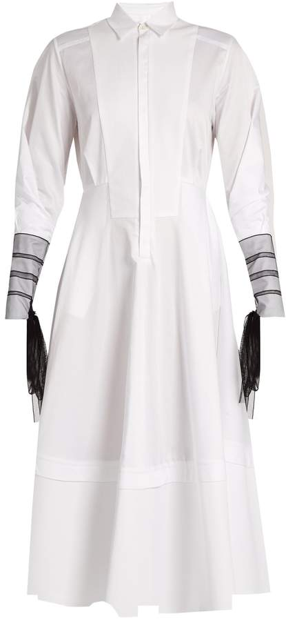 Amanda Wakeley Muse cotton-poplin shirtdress