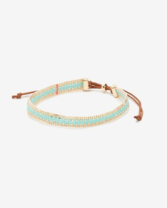 Express Turquoise Seed Bead Pull-Cord Bracelet