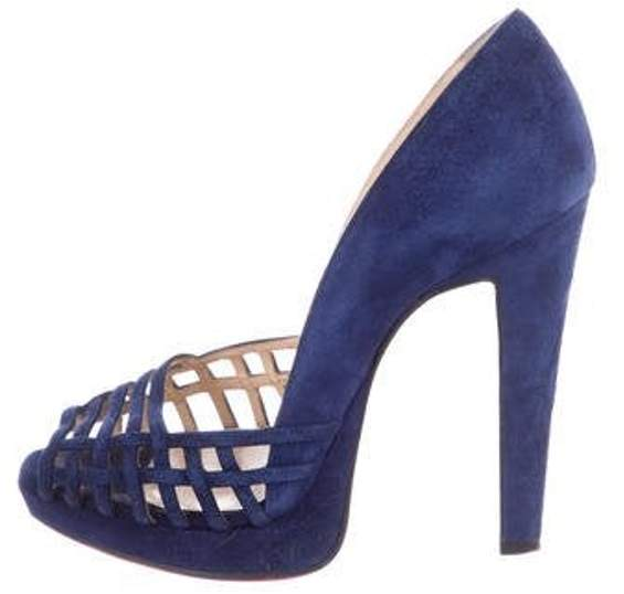 Suede High Heel Sandals Blue Suede High Heel Sandals
