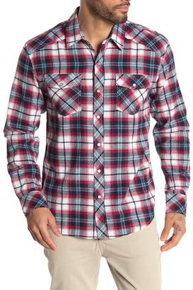 Coastal Truman Plaid Flannel Snap Modern Fit Shirt