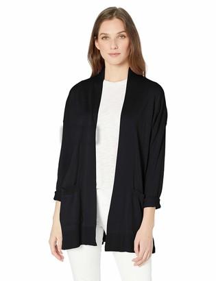 Chaps Women's Long Sleeve Cotton Modal Open Front Cardigan