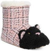 Kensie Sparkle Tweed Cat Critter Booties