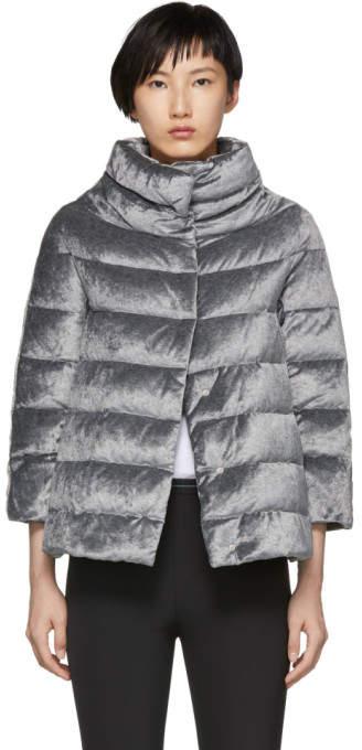 Herno Silver Down Three-Quarter Sleeve Jacket