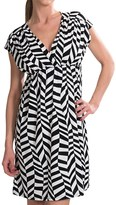 She's Cool She's Cool Surplice Neck ITY Knit Dress (For Women)