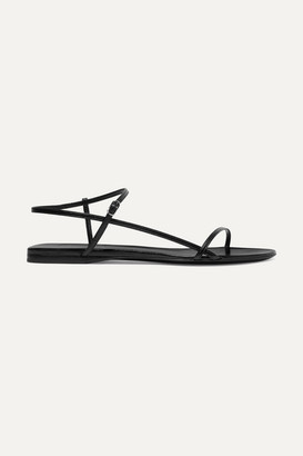 The Row Bare Leather Sandals - Black