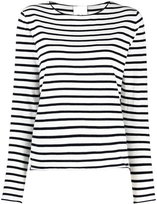 Allude Striped Cotton-Cashmere Jumper