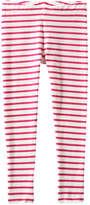 Joe Fresh Kid Girls' Stripe Legging, Dark Pink (Size XL)
