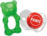 "Fred & Friends Chill Baby ""Panic"" Pacifier And Gum-Me Bear Teether Set"