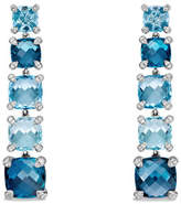 David Yurman Graduated Blue Topaz Drop Earrings with Diamonds