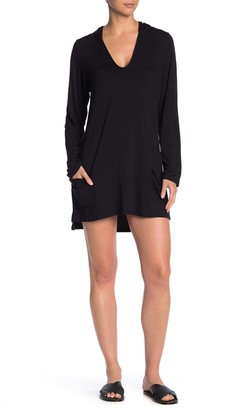 Vyb Long Sleeve Cover-Up Tunic Hoodie
