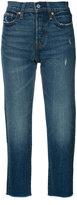 Levi's raw hem cropped jeans - women - Cotton/Spandex/Elastane - 25