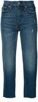 Levi's raw hem cropped jeans - women - Cotton/Spandex/Elastane - 27