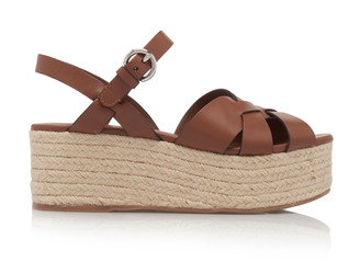 Prada Woven Leather Sandals