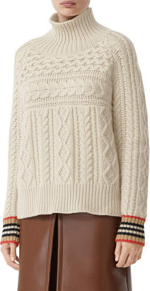 Burberry Oamaru Cashmere Cable-Knit Sweater