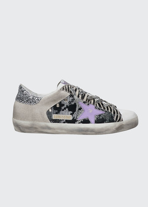 Golden Goose Superstar Animal-Print Court Sneakers
