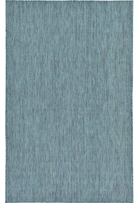 Andover Mills New Haven Teal Area Rug Rug Size: 4' x 6'