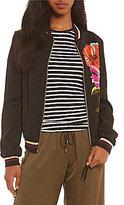 Trina Turk Adriano Floral Print Bomber Jacket