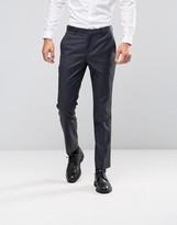 Asos Slim Suit Pants In Navy In 100% Wool