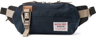 MASTERPIECE Leather-Trimmed Nylon-Twill And Canvas Belt Bag