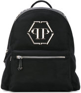 Philipp Plein logo plaque backpack